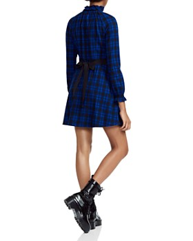 Maje - Rivine Plaid A-line Mini Dress