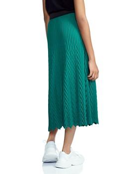Maje - Jisse Pleated Midi Skirt