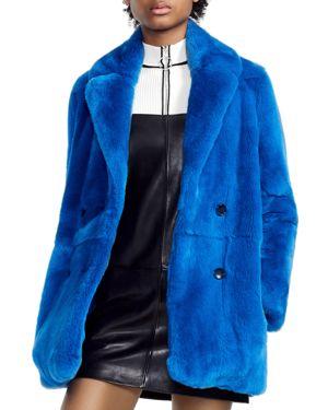 Maje Gati Real Rabbit Fur Coat