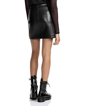 Maje - Jerto Belted Leather Mini Skirt