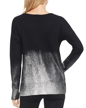 VINCE CAMUTO - Drop-Shoulder Foiled Ombre Sweater
