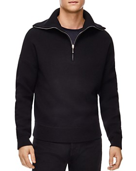 Sandro - Double Half-Zip Sweater