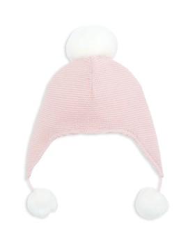 2181e77debd Elegant Baby - Girls  Pom-Pom-Trimmed Knit Aviator Hat - Baby
