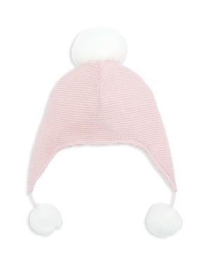 Elegant Baby Girls PomPomTrimmed Knit Aviator Hat  Baby