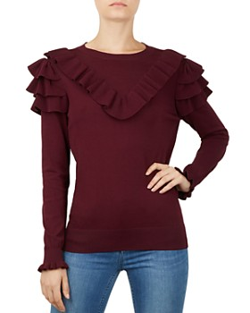 Ted Baker - Yowsie Ruffle-Trimmed Sweater