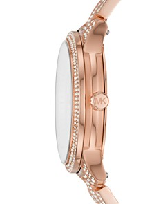 Michael Kors - Runway Rose Gold-Tone All-Over Pavé Crystal Watch, 38mm