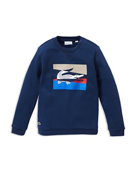 Lacoste - Boys' Crocodile Fleece Sweatshirt - Little Kid, Big Kid