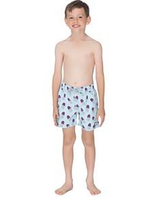 TOM & TEDDY - Boys' Jellyfish Print Swim Trunks - Little Kid, Big Kid