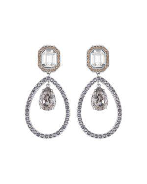 ATELIER SWAROVSKI By Tabitha Simmons Statement Drop Earrings in Silver