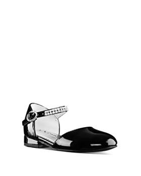 Nina - Girls' Cera Embellished D'Orsay Ankle Strap Flats - Walker, Toddler