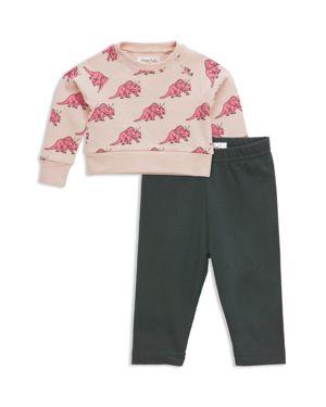 Sovereign Code Girls' Dinosaur-Print Sweatshirt & Solid Leggings Set - Baby