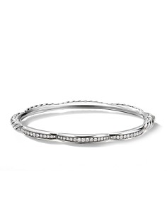 David Yurman - Tides Three Station Bracelet with Diamonds in Sterling Silver