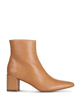 Vince - Women's Lanica Leather Block Heel Booties
