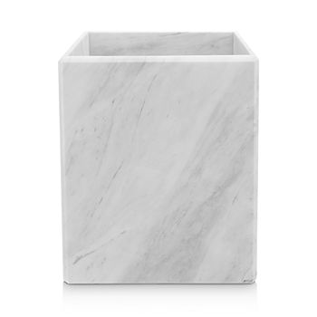 "Waterworks - ""White Marble"" Wastebasket"