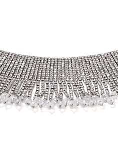 "AQUA - Fringe Crystal Choker Necklace, 11"" - 100% Exclusive"