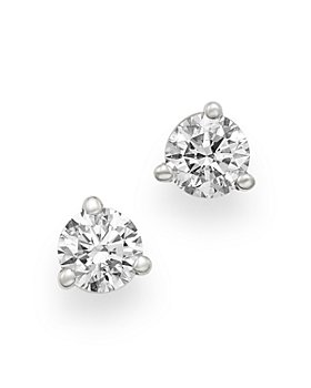 Bloomingdale's - Certified Diamond Stud Earrings in 18K White Gold, 0.33 ct. t.w. - 100% Exclusive
