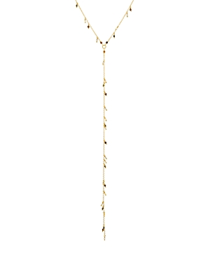 Chan Luu TIGER'S EYE LARIAT NECKLACE IN 18K GOLD-PLATED STERLING SILVER, 17