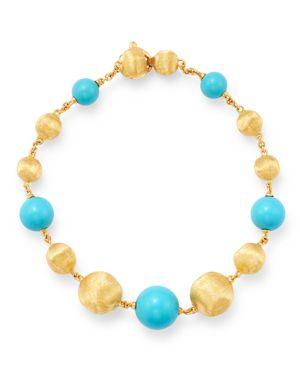 Marco Bicego 18K Yellow Gold Africa Turquoise Beaded Bracelet