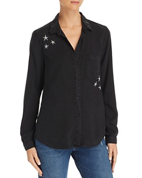 Bella Dahl - Star-Embroidered Shirt - 100% Exclusive