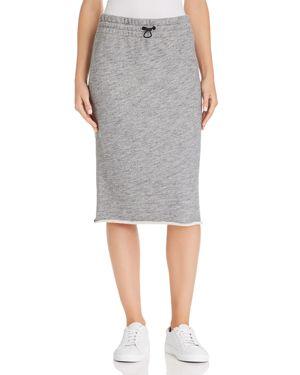 Rag & Bone/Jean Sweat Skirt in Heather Grey