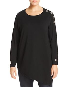 One A Plus - Asymmetric Toggle Sweater