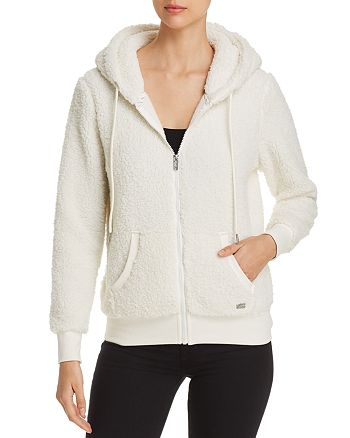 Marc New York - Teddy Fleece Hooded Zip Jacket