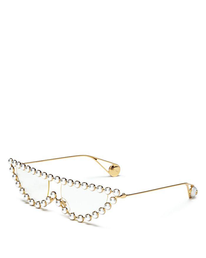 51a6976c0d Gucci - Women s Simulated Pearl-Embellished Cat Eye Sunglasses