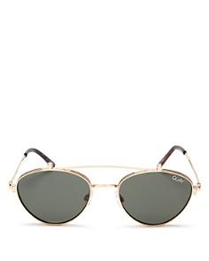 Quay - Women's QUAY X ELLE FERGUSON Brow Bar Round Sunglasses, 59mm