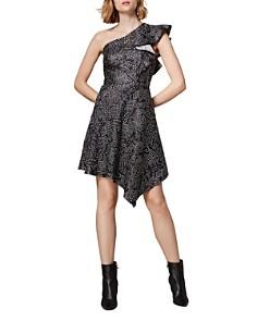 KAREN MILLEN - Jacquard One-Shoulder Dress