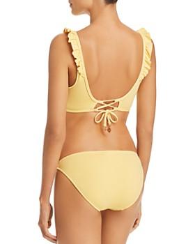 Ralph Lauren - Modern Solid Ruffle Bralette Bikini Top & Solid Taylor Hipster Bikini Bottom