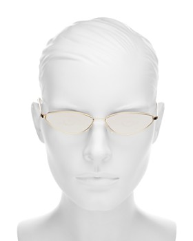 Illesteva - Women's Nimbin Mirrored Cat Eye Sunglasses, 50mm