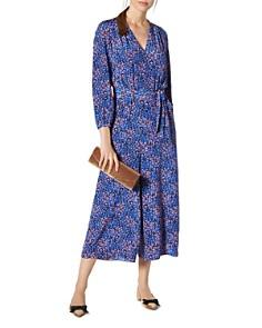 L.K.Bennett - Ellora Floral-Print Cropped Silk Jumpsuit