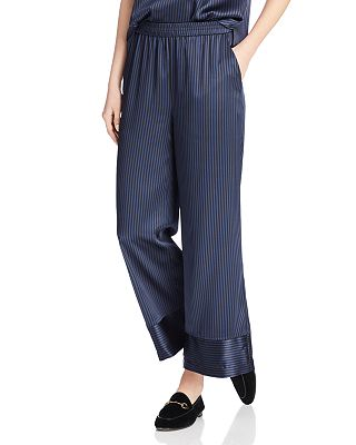 Petites - Silk Wide-Leg Pants
