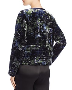 Eileen Fisher - Printed Velvet Puffer Jacket - 100% Exclusive