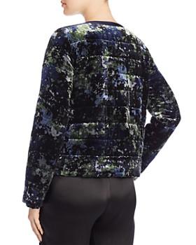 Eileen Fisher Petites - Printed Velvet Puffer Jacket