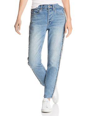 PISTOLA Nico Mom High-Rise Embellished Straight-Leg Jeans In Duality