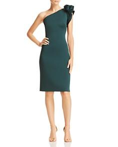Eliza J - One-Shoulder Floral-Detail Dress