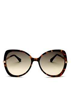 Jimmy Choo - Women's Cruz Mirrored Butterfly Sunglasses, 58mm