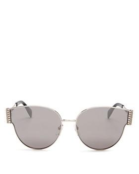 Moschino - Women's Mirrored Round Sunglasses, 61mm