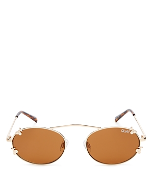 Quay X FINDERS KEEPERS FINAL STAND CHERRIES BROW BAR ROUND SUNGLASSES, 41MM