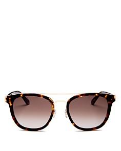 kate spade new york - Women's Jalicia Brow Bar Round Sunglasses, 54mm
