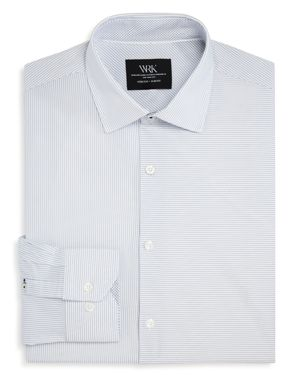 Wrk Two-Directional Striped Slim Fit Dress Shirt