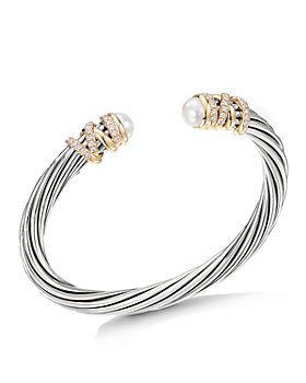 David Yurman - Helena Bracelet with Cultured Freshwater Pearls & Diamonds