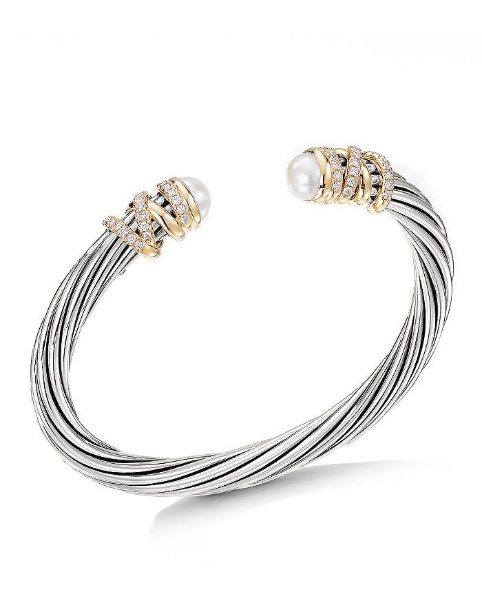 David Yurman - Helena Bracelet with Cultured Freshwater Pearls & Diamonds