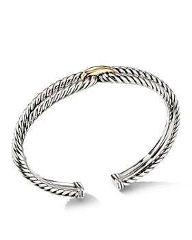David Yurman Cable Loop Bracelet With 18k Yellow Gold