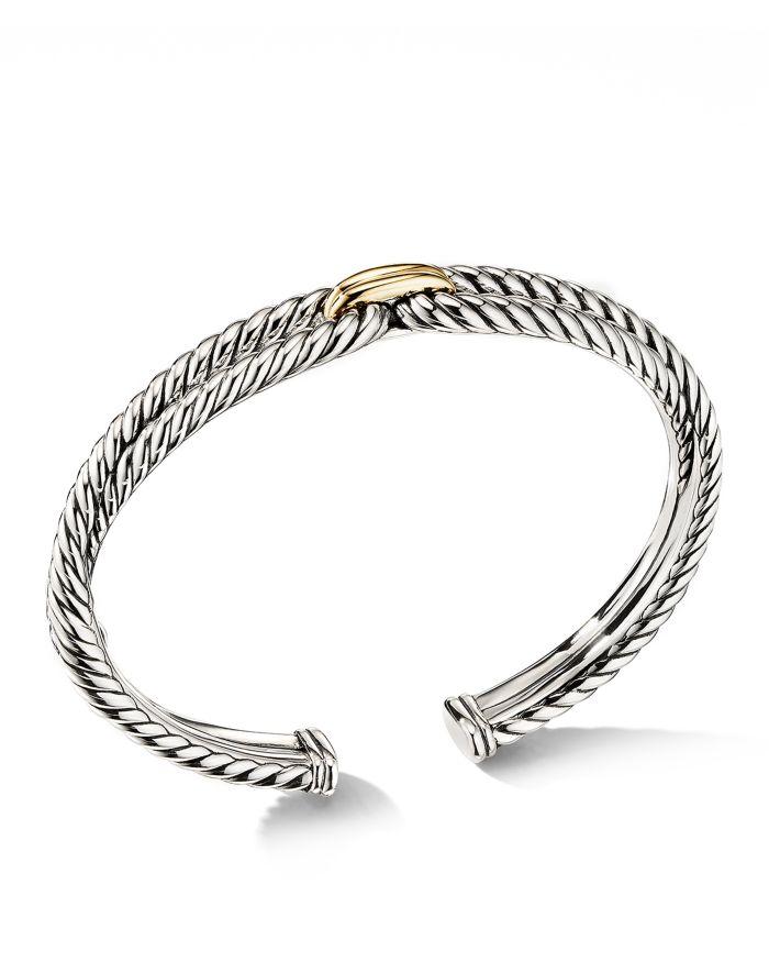 David Yurman Cable Loop Bracelet with 18K Yellow Gold  | Bloomingdale's
