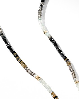 David Yurman - Tweejoux Necklace in 18K Yellow Gold with Black Onyx