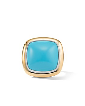 David Yurman - Albion® Statement Ring with 18K Yellow Gold & Reconstituted Turquoise