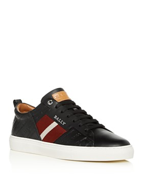 Bally - Men's Helvio Embossed Leather Lace-Up Sneakers