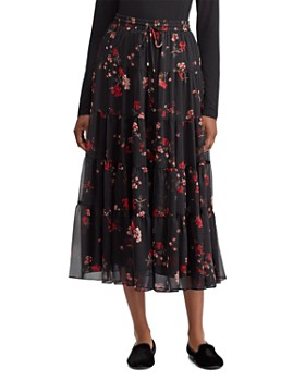 Ralph Lauren - Floral Print Tiered Midi Skirt